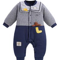 新生婴儿儿衣服秋冬保暖连体衣冬季外穿长袖男宝宝外出爬服