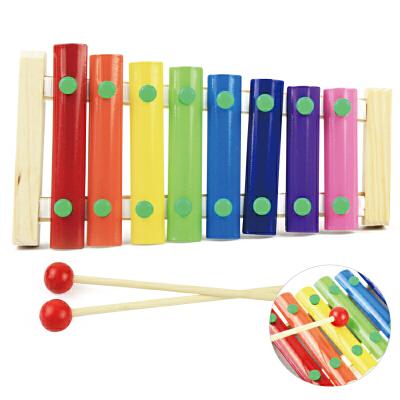 婴幼儿1-3周岁木质八音手敲琴宝宝奥尔夫音乐器教具早教木琴玩具c 原木八音敲琴 本店部分定制定金商品,需要补齐尾款发货,部分商品需要自提或补运费,私自下单不作为