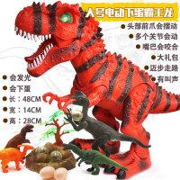 儿童恐龙玩具套装 走路电动霸王龙遥控仿真动物男孩玩具3-6岁礼物 下蛋红色霸王龙 充电版:充电电池+充电套装