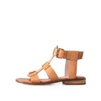 【 限时4折】爱旅儿哈森旗下羊皮革低跟方跟欧美罗马简约休闲女凉鞋EM68233