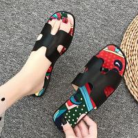 凉拖 女士旅游外穿潮流平底沙滩鞋2019夏季新款韩版时尚女式休闲洋气一字鞋女鞋拖鞋