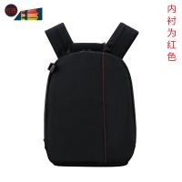 尼康单反相机包多功能双肩摄影包77d700d200d80d750d背包 红色 送:防雨罩