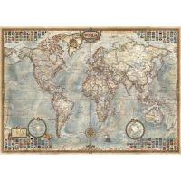 现货 进口拼图 古世界地图1500片雷诺瓦