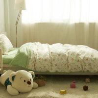 棉大学生宿舍单人床单三件套床上用品 寝室被套儿童床品1.2米床k