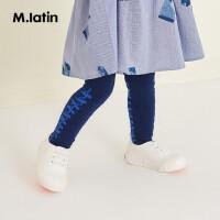 【秒杀价:49元】马拉丁童装女小童饰品连裤袜2019新款秋装时尚侧边条纹印花长袜