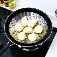 不锈钢蒸架折叠可伸缩蒸笼盘蒸屉蒸盘器蒸格多功能水果篮