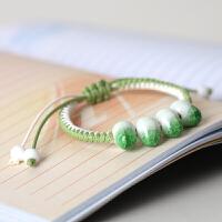 陶瓷饰品 瓷珠手链 多色可选 陶瓷裂纹釉瓷珠手饰 糖果色