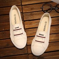 帆布鞋 女士懒人一脚蹬浅口布鞋2020春夏季新款韩版时尚女式休闲平底学生鞋子