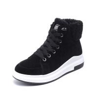 棉 鞋子女冬季加绒2018新款韩版学生雪地靴女短筒短靴休闲 鞋子保暖