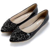 春季新款平底鞋女单鞋浅口平跟鞋大码女 -小码瓢鞋