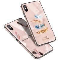 苹果X手机壳iphonexr潮网红玻璃镜面iphonexsmax女款超薄硅胶iphonex全包防摔ipone高档xma