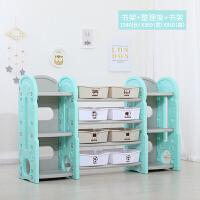 儿童玩具收纳架子置物架储物柜多层整理架幼儿园宝宝书架绘本书架 +书架*2