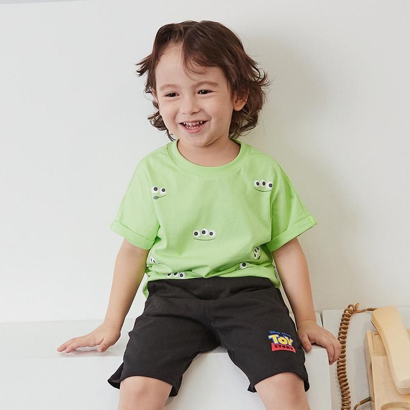 【618年中庆 2件4折价:40】迷你巴拉巴拉儿童宽松薄款短袖T恤夏新款男女童ip印花体恤衫