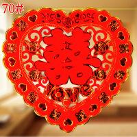 婚庆结婚用品新房装饰布置门喜-花边爱心玫瑰LOVE70#2张