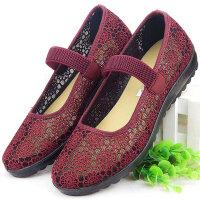 老北京布鞋女中老年人凉鞋软底老人奶奶夏季鞋子妈妈女鞋太太网鞋