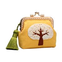 创意初学丝带绣布艺礼物刺绣diy手工制作口金包材料包