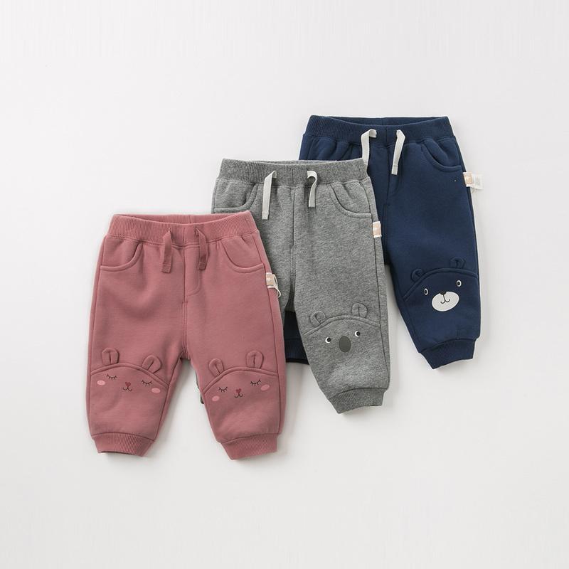 【加绒】davebella戴维贝拉童装冬季新款男女童宝宝裤子DBW11668