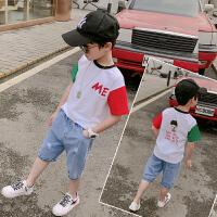 男童夏装套儿童男孩帅气中大童短袖两件套