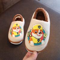 宝宝拖鞋冬男1-3岁防滑婴幼儿冬天儿童拖鞋男童小孩棉拖鞋2