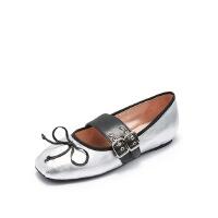 爱旅儿哈森旗下蝴蝶结浅口芭蕾舞鞋平底单鞋女EL78207