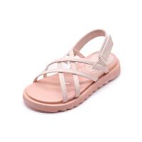 女童凉鞋时尚小女孩的鞋子公主软底中大童沙滩鞋