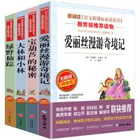 全套四本 爱丽丝漫游奇境记仙境宝葫芦的秘密大林和小林绿野仙踪 无障碍精读版小学三四五六年级中小学生课外阅读书籍世界名著