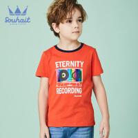 【3折价:41.7元】souhait水孩儿童装夏季新款圆领衫儿童T恤短袖T恤短袖圆领衫SHNXBD08CT625