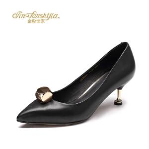 红蜻蜓旗下品牌金粉世家女鞋秋冬休闲鞋鞋子女单鞋高跟鞋JGB1023