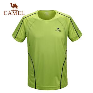 camel骆驼户外男款速干T恤 春夏速干圆领短袖男款T恤