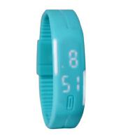 手镯运动男女儿童学生电子表 LED手表灯触控果冻手环