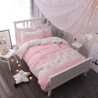 全棉韩式床上用品纯棉四件套公主田园1.5米单被套学生宿舍三件套 1.5m(5 英尺)床