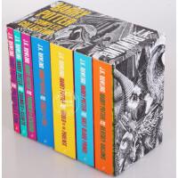 【现货】英国版 哈利波特套装全集 英文原版 木须雕刻版 Harry Potter 1-7 全套 Harry Potter Boxed Set 上海中图正版进口