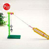 儿童科学实验教具益智玩具 小学生科技小制作物理实验滑轮测力器