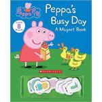 【预订】Peppa's Busy Day Magnet Book 9780545925457