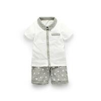 【专区59元2件】加菲宝贝 GAFFEY KITTY 儿童套装夏装新款男宝宝衣服GKA3022