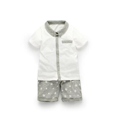 【到手价:39.75元】加菲宝贝 GAFFEY KITTY 儿童套装夏装新款男宝宝衣服GKA3022