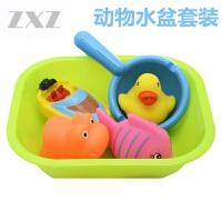 宝宝洗澡玩具戏水漂浮套装婴儿沐浴儿童捞鱼网捏捏叫喷水6件套 【卡趣戏水澡盆套装】 6件套