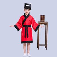书童弟子规演出服礼服装儿童古装汉服三字经表演服国学服