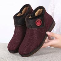老人棉鞋女中老年妈妈鞋保暖老北京布鞋女士加厚加绒大小码棉