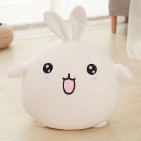 可爱小兔子毛绒玩具公仔床上陪你睡觉的娃娃女孩抱枕玩偶懒人女生 白色 50厘米【填充泡沫粒子】