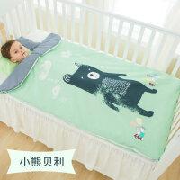 婴儿睡袋幼儿童春秋冬款加厚四季通用被子宝宝薄款防踢被神器