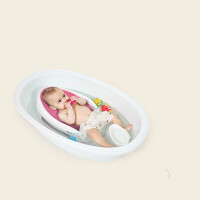 婴儿浴盆可坐可躺新生儿洗澡盆通用大号加厚幼儿宝宝沐浴桶