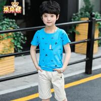 男童短袖套装夏季儿童恤短裤中大童韩版两件套2019新款童装