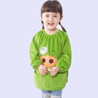 儿童罩衣宝宝反穿衣小孩大码长袖倒穿杉孩子吃饭围裙画画护衣