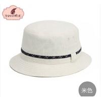 韩版 女士情侣款帽子户外休闲百搭平顶渔夫帽 潮女帽子