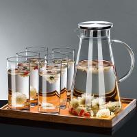 凉水壶玻璃水壶耐热防爆冷水壶耐高温凉水杯家用装水茶壶扎壶套装