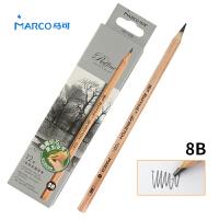 MARCO/马可 7001-12CB 高级绘图铅笔12支装/8B 原木杆初学者素描笔专业美术用品画材套装速写笔儿童全灰