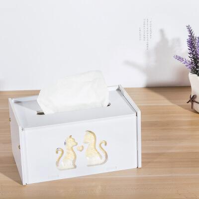 【限时秒杀】 幽咸家居 PVC防水纸巾盒子创意家居用品 桌面纸巾盒