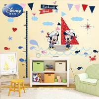 孩派 正品迪士尼米老鼠身高贴 儿童房装饰可移除卡通贴画米奇米妮
