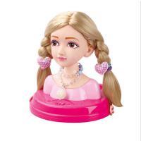 乐吉儿时尚发型师洋娃娃 化妆头饰练习梳头扎辫子女孩过家家玩具新